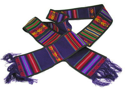 Long Purple Pastoral Stoles handmade by Grupo Mana, a group of women who live in the outskirts of Lima and with their sewing cooperative support their families. This Fair Trade product is made of the versatile manta cloth, traditionally used by indigenous women to carry their children on their backs, and is reversible, washable, and doesn't fade or shrink.  $35