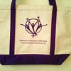 *NEW* Medium-sized Natural/Purple colored boat-tote bag in organic cotton, produced by Enviro-Tote, a family-owned, women-owned and operated company based in Manchester, NH.  Each bag is hand-cut and sewn. $15