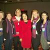 (From Left to Right) WOC Board Members, Drina Nikola and Theresa Yugar, WOC President Laura Singer, Dolores Huerta, WOC Exec. Director Aisha Taylor and WOC Assist. Director Erin Saiz Hanna