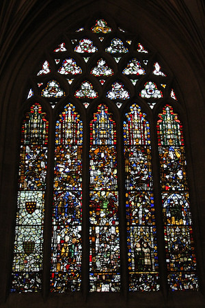 North panel of the East End windows at Wells Cathedral.  20 October 2014