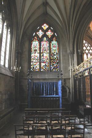 North chapel at Wells Cathedral.  20 October 2014