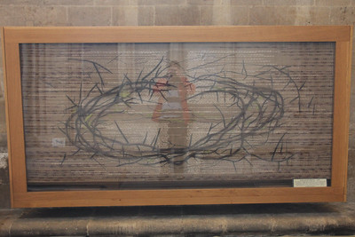 Nave Altar Frontal for Lent at Wells Cathedral.  20 October 2014