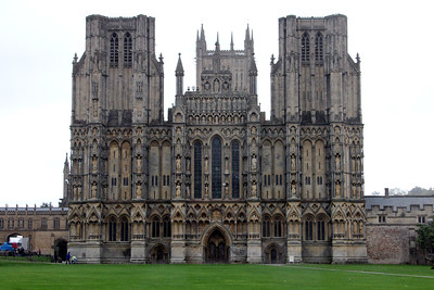 West End of Wells Cathedral.  20 October 2014