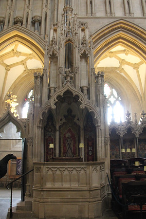 The Cathedra for the Bishop of Bath and Wells.  20 October 2014