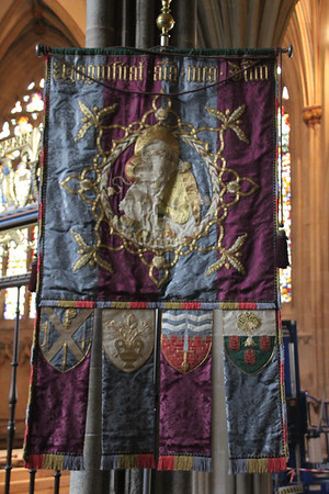 Banner at Wells Cathedral.  20 October 2014