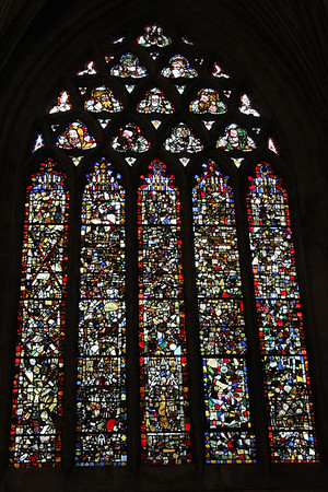 North east panel of the East End windows at Wells Cathedral.  20 October 2014