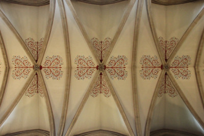 Nave ceiling at Wells Cathedral.  20 October 2014