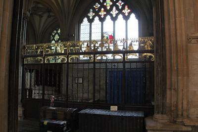 Screen detail of the north chapel at Wells Cathedral.  20 October 2014