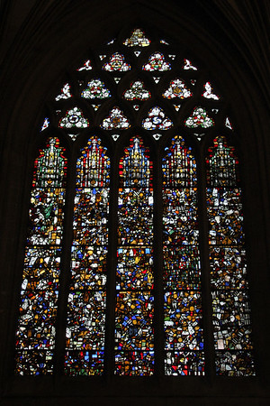 South panel of the East End windows at Wells Cathedral.  20 October 2014