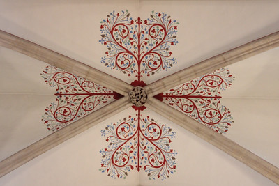 Nave ceiling detail at Wells Cathedral.  20 October 2014