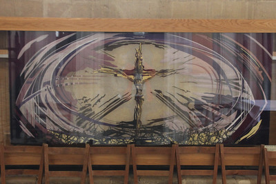 Nave Altar Frontal for Advent at Wells Cathedral.  20 October 2014