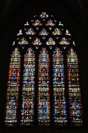 East panel of the East End windows at Wells Cathedral.  20 October 2014