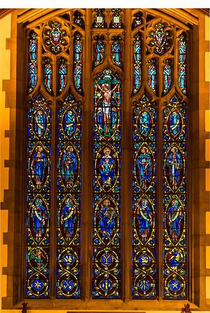 Main sanctuary window, St. Anne Retreat Center, Melbourne, Kentucky