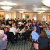 The dining hall is filled with visitors enjoying refreshments after touring Salem Heights
