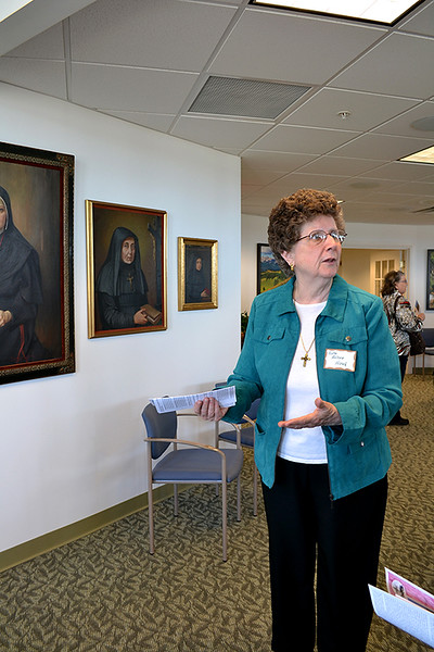 Sister Arlene Hirsch gives a tour at the Open House