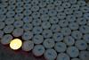 candle,kaars,bougie,basilisca concattedrale di San Andrea,Mantova,Mantua,Italy,Italië