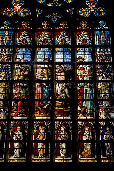 St Andreas,stained glass,glasraam,vitrail,Basiliek,Tongeren,Tongres,Belgium,België,Belgique