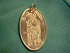 Medal depicting San Vito Mertire,   According to believers, Vito was put into a fire hot enough to burn lead, but Vito prayed to Jesus and suddenly there was a great earthquake and terrible thunderbolts. The times of idolizing ended and many people died.<br /> <br /> As Vito was saved from the fire, he prayed for his followers' salvation and for him to become a martyr.