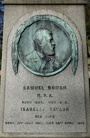 Grave of artist Samuel Bough, Dean Cemetery, Edinburgh.