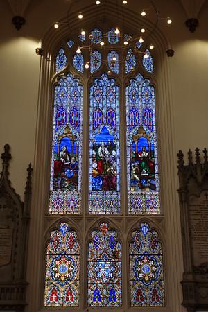 Stained glass, St John's Church, Edinburgh.