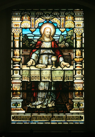 Stained glass, St Cuthberts church, Edinburgh.