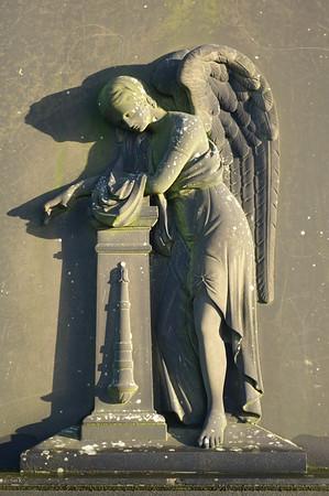 Detail on grave, Glasgow Necropolis.