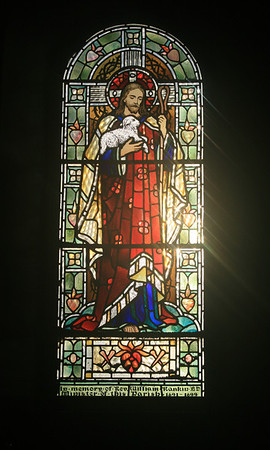 Stained glass, Legerwood church.