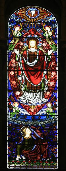 Stained glass. Mansfield Traquair church, Edinburgh.