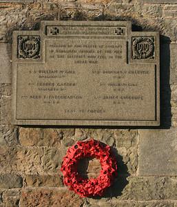 Carlops War memorial.