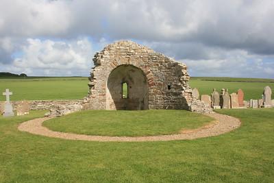 Orphir Kirk ruins, Orkney.