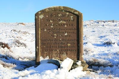 Covenanters grave, Pentland hills.