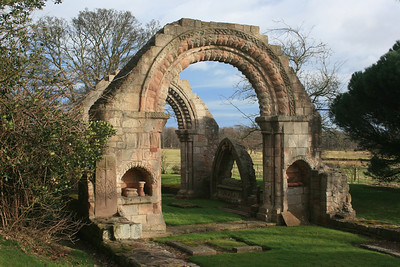 St Baldreds Kirk ruins. East Lothian. Dates from Norman times.