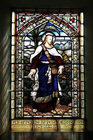 Stained glass, Dunning Church.