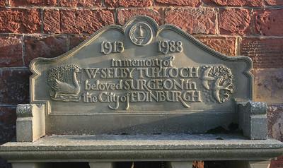 Memorial, Legerwood parish church, Scottish Borders.