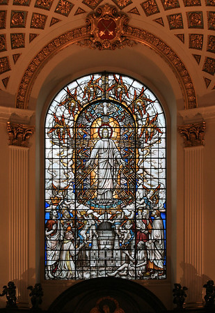 Stained glass, St Clement Danes, London.