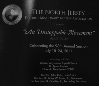 North Jersey District Missionary Baptist Association 98th Annual Session | 7-21-2011