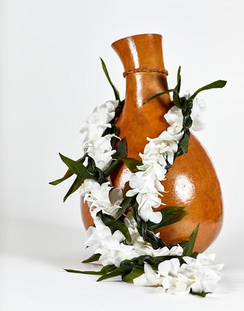Hawaiian Ipu with Flower Lei