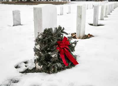 Blank Headstone with Wreath
