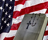 Bible and Rosary and USA Flag faith religion concept