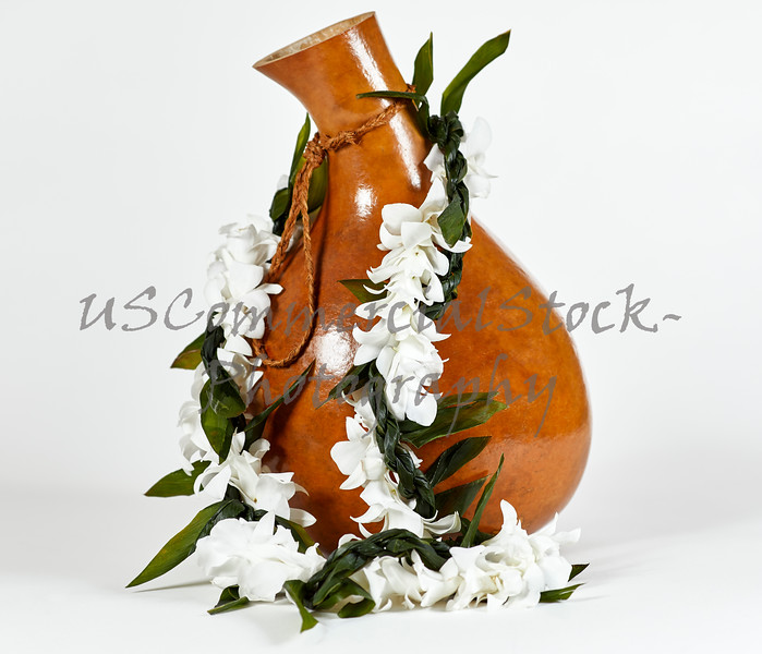 Hawaiian Ipu with Flower Lei