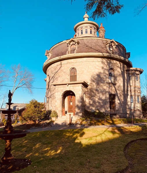 """The Jonathan Bowers House, built in 1872, at 58 Wannalancit St., Lowell, is also called the Round House or """"Castle."""""""