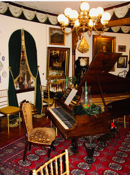 Another feature of the third-floor ballroom is the grand piano.