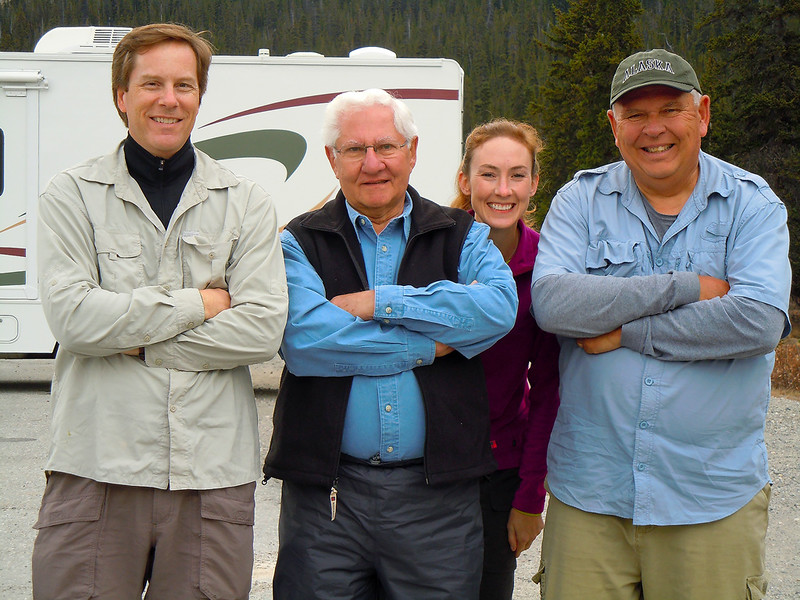 Darren Stratemeier, Don, D'An Glueckert and Jay Brooks in the Canadian Rockies