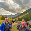 Don and Paul Riewerts at Maroon Lake with a few hundred other photographers - Fall  2014