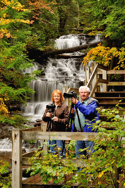 On the south shore of Lake Superior with Mary Anderson - September 2013
