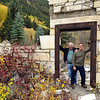 Don & Paul Riewerts at ruins of Yule Marble mill, Marble, Colorado - Fall 2014