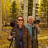 D'An Glueckert and Don in Kate's Meadow beneath Chimney Rock in the San Juan Mountains - Colorado-Utah Fall Tour - September 2012