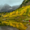 Cloudy morning at Maroon Bells, Colorado - Fall 2014