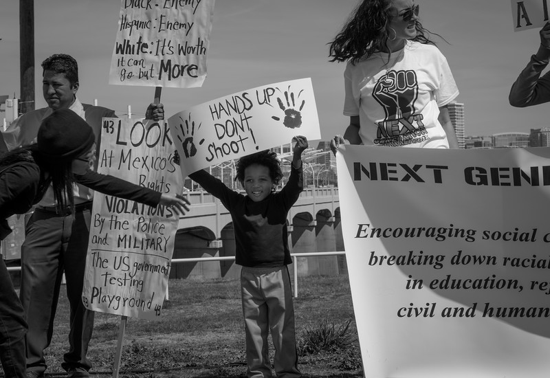 Remembering Selma March - Margaret Hunt Hill Bridge - Dallas, TX (Mar 07, 2015)