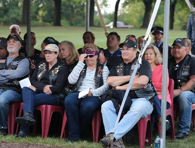 Family members and other supporters of fallen police and firefighters. (Aileen Wingblad/Digital First Media)